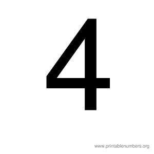 printable_number_4
