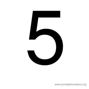 printable_number_5